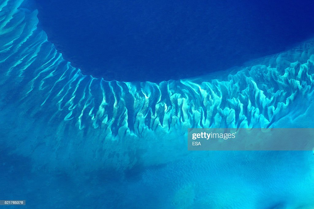 This handout image supplied by the European Space Agency (ESA), shows the blue waters of the Bahamas in an image taken by ESA astronaut Tim Peake from the International Space Station on April 9, 2016. ESA astronaut Tim Peake is performing more than 30 scientific experiments and taking part in numerous others from ESA's international partners during his six-month mission, named Principia, after Isaac Newtons ground-breaking Naturalis Principia Mathematica, which describes the principal laws of motion and gravity.