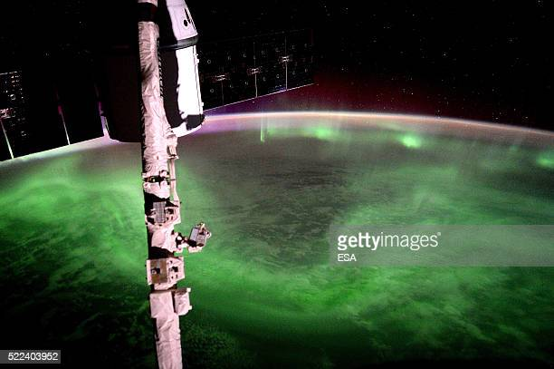 This handout image supplied by the European Space Agency , shows the Aurora Australis, southern lights, in an image taken by ESA astronaut Tim Peake...
