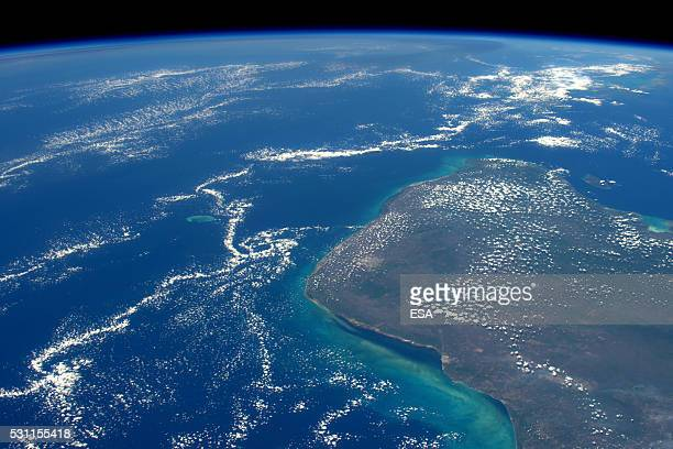 This handout image supplied by the European Space Agency , shows the Eastern part of Mexico, looking north-east across the Gulf of Mexico, Yucatan...