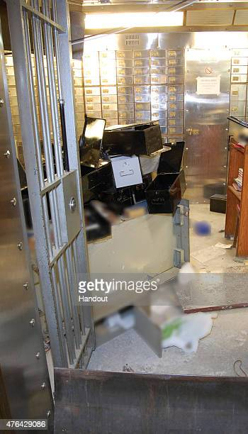This handout image supplied by the Metropolitan Police, shows a view of the vault at Hatton Garden Safe Deposit Limited following the Easter weekend...