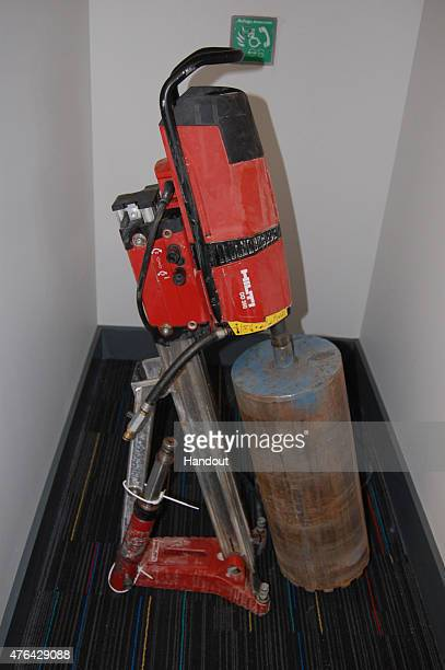 This handout image supplied by the Metropolitan Police, shows the drill used at Hatton Garden Safe Deposit Limited following the Easter weekend...