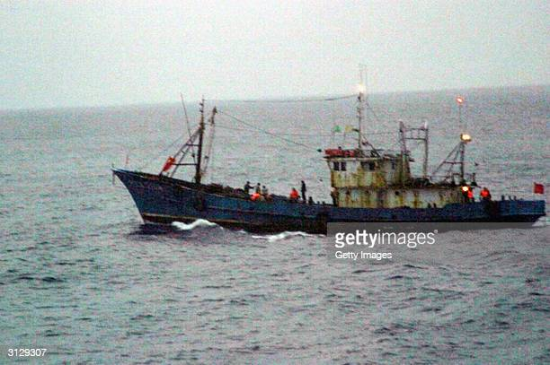 This handout photo from the Japanese Coast Guard shows a Chinese registered ship that was used in a protest over the sovereignty of one of the five...