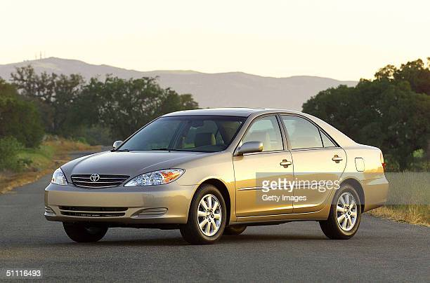 This handout photo from Toyota shows the company's 2002 Toyota Camry XLE Toyota announced on July 26 2004 that is is recalling 128000 Camrys made...
