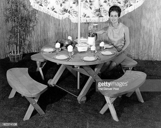 JUL 21 1963 This handsome barbecue set shown here with NBC's TV actress Eileen O'Neill can be completed by the handyman in three evenings with the...