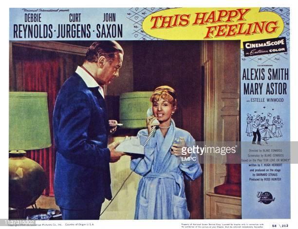 This Happy Feeling US lobbycard from left Curd Jurgens Debbie Reynolds 1958