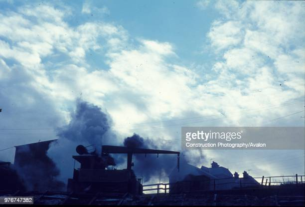 This historic picture was made at Doxfords Shipyard on the river Wear in Sunderland in December 1970 during the final weeks of their working life It...
