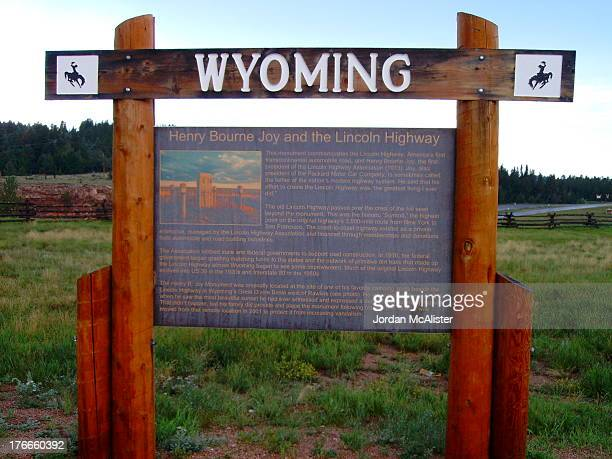 This historical marker is located just off of Interstate 80 between Cheyenne and Laramie in eastern Albany County.