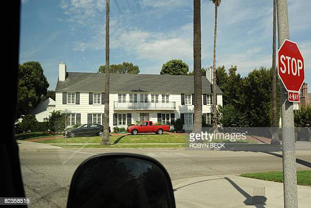 This house in Beverly Hills California where actress Lana Turner's daughter stabbed and killed Turner's lover the gangster Johnny Stompanato in 1958...