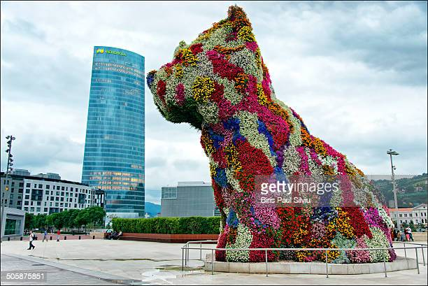 CONTENT] This huge dog made of flowers sits outside the Guggenheim museum in BilbaoSpain The sculpture is creatively named Puppy