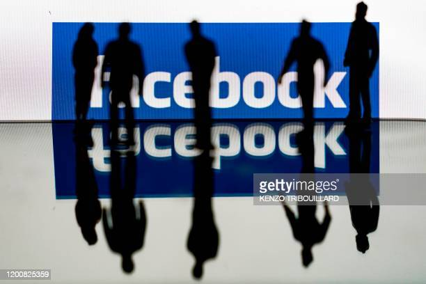 This illustration picture shows the US social media Facebook logo on February 14 2020 in Brussels