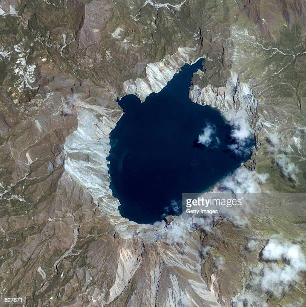 This image captured by a satellite on March 6 2001 shows Mt Pinatubo in the Philippines The volcano is located 90 kilometers north of Manila Once...