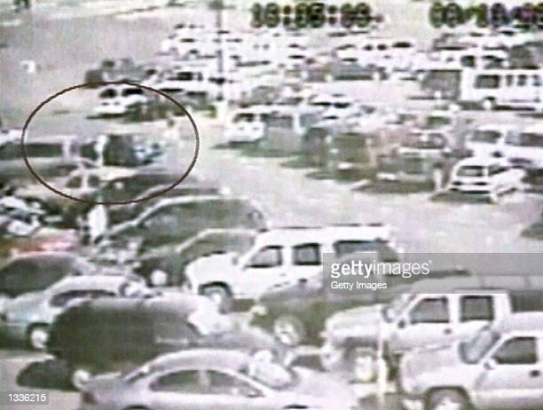This image from a surveillance camera shows the abduction of a onemonthold baby named Nancy Chavez August 13 2002 in Abilene Texas The baby was taken...