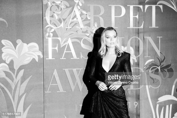 This image has been converted in black and white] Veronica Ferraro attends the Green Carpet Fashion Awards during the Milan Fashion Week...