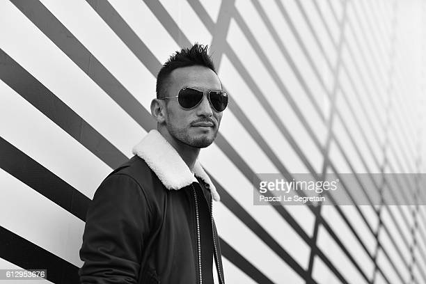 This image has been converted to Black and White Hidetoshi Nakata attends the Louis Vuitton show as part of the Paris Fashion Week Womenswear...