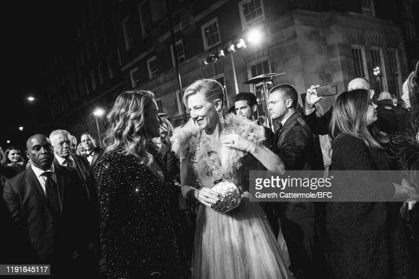 This Image has been converted to black and white Julia Roberts and Cate Blanchett arrives at The Fashion Awards 2019 held at Royal Albert Hall on...
