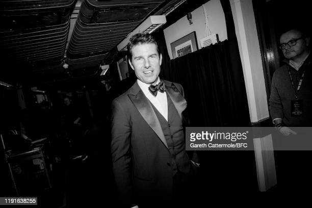 This Image has been converted to black and white Tom Cruise backstage stage during The Fashion Awards 2019 held at Royal Albert Hall on December 02...