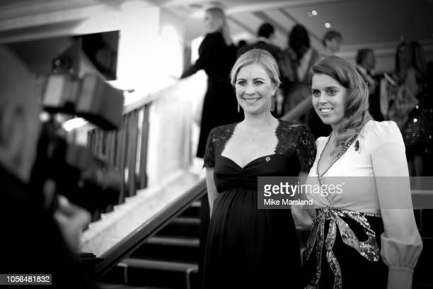 This image has been converted to Black White Holly Branson and Princess Beatrice of York attends The 9th Annual Global Gift Gala held at The Rosewood...