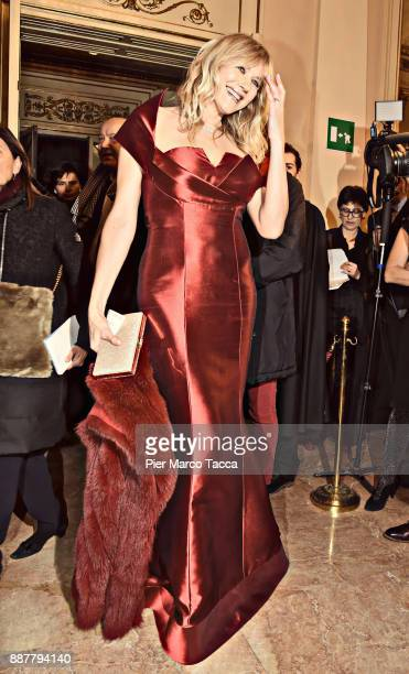 this image has worked with digital filter Natasha Stefanenko attends the Prima Alla Scala at Teatro Alla Scala on December 7 2017 in Milan Italy