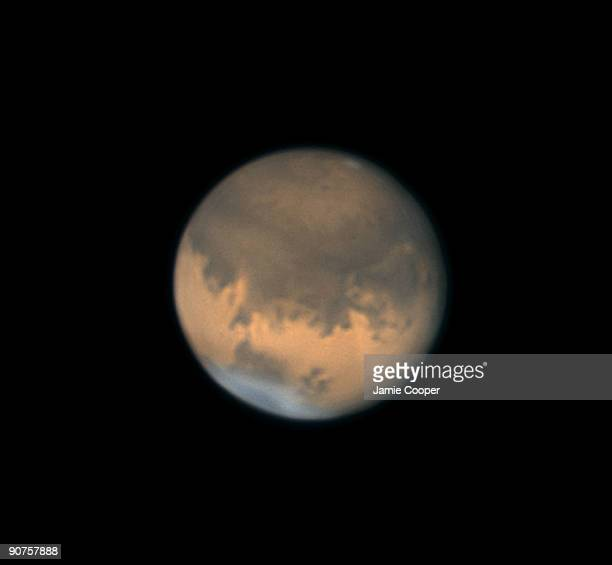This image of Mars was taken at 2310 hrs UT on 17 November 2005 using a webcam attached to a SchmidtCassegrain telescope The image is centred on the...