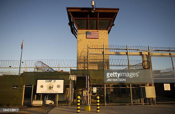 This image reviewed by the US military shows the front gate of Camp Six detention facility of the Joint Detention Group at the US Naval Station in...