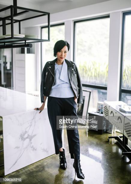 This image show Jaime Ku Managing Partner of Buzz Agency and Buzz Concepts wearing black leather jacket is by Acne and is one of Ku's alltime...