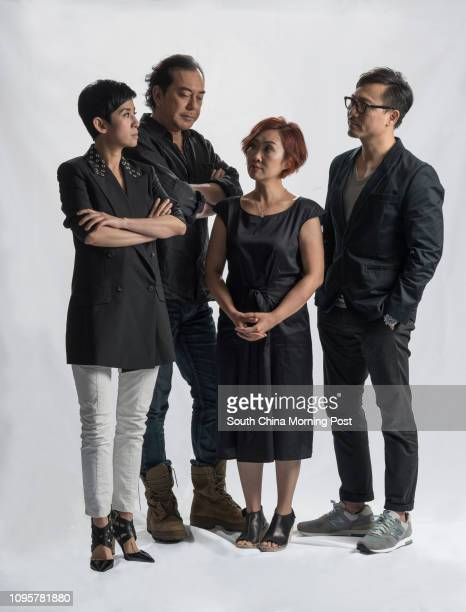 This image shows the cast from Le Dieu du Carnage Sandra Ng Kwanyu Anthony Wong Chausang Olivia Yan Wingpui and Poon Chanleung in Kowloon Bay 28JUN15...