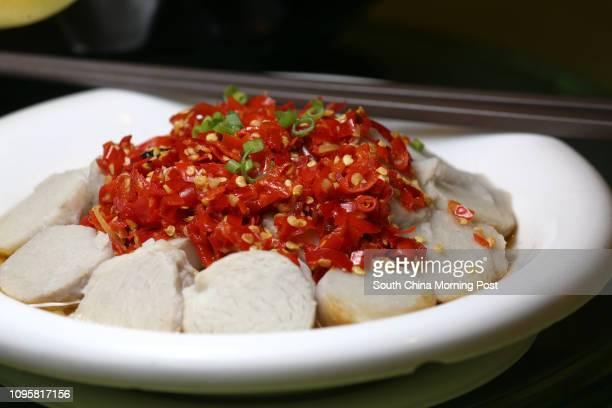 This image shows the Chop bell pepper steamed taro of Hunan of Hu Nan Heen in Causeway Bay 24JUL15 [2015 RESTAURANT REVIEW 48HRS]