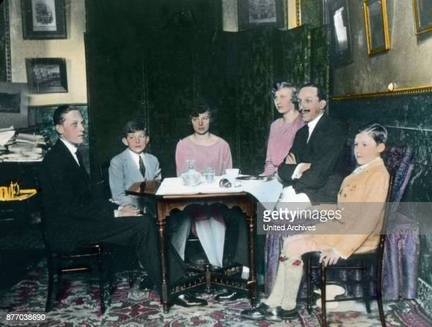 This image shows the royal family reunited because once again she was given a reprieve Since the unrest did not stop and confirmed by the King...