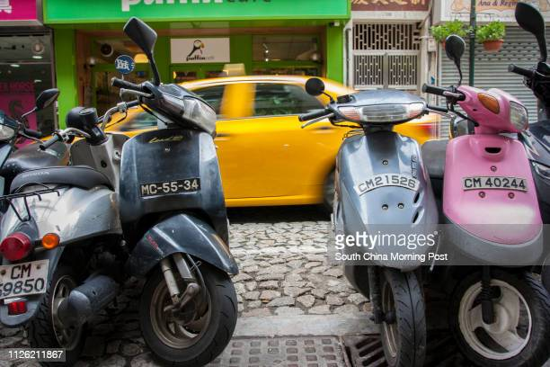 This image shows typically bright Macau colours on the Rua de Santo Antonio in Macao on 19 June 2014. 19JUN14 [10JULY2014 LEAD FEATURE 2 48HRS]