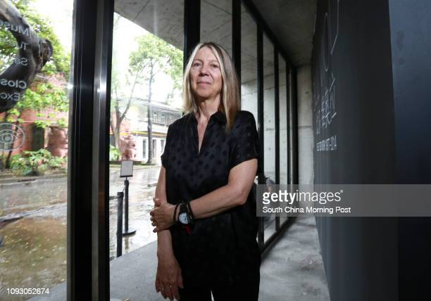 This image shows US video artist Bill Viola's wife Kira Perov poses for a photograph at her husband exhibition ' Bill Viola Selected Work 19772014 '...