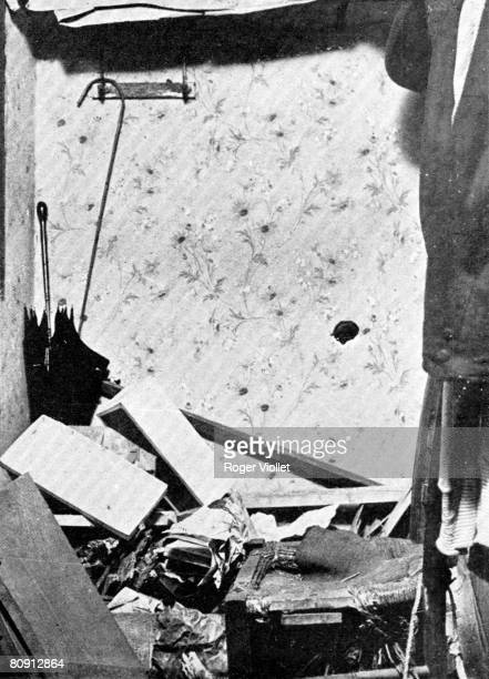 This image shows Vincenzo Peruggia's apartment after police went through it to find the stolen Mona Lisa painting Peruggia perpetrated what has been...