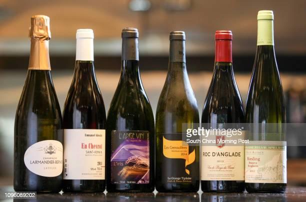 """This image shows wines: Larmandier-Bernier champagne; Emmanuel Giboulot En Chevrot St Romain; Les vignes de L' Ange Vin """"l iris""""; La Grange Tiphaine..."""