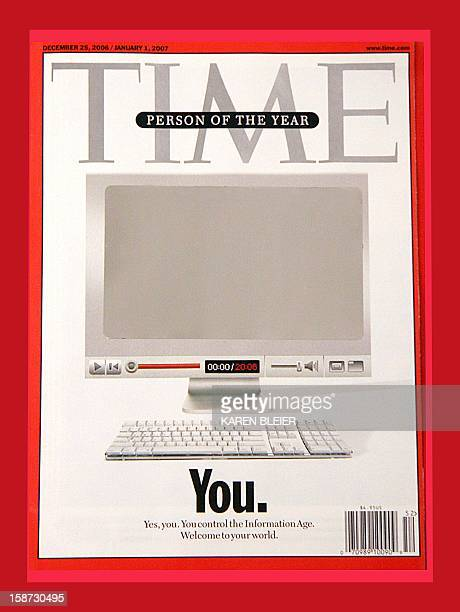 """This image taken 18 December, 2006 shows the 25 Decmber/ 01 January cover of Time Magazine featuring the """"Person of the Year"""" cover. Time magazine..."""