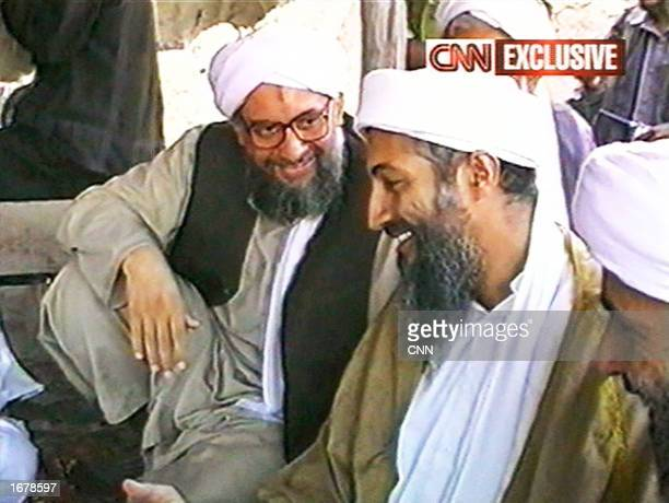 This image taken from a collection of videotapes obtained by CNN shows members of the upper echelon of the terrorist group al Qaeda Ayman alZawahiri...