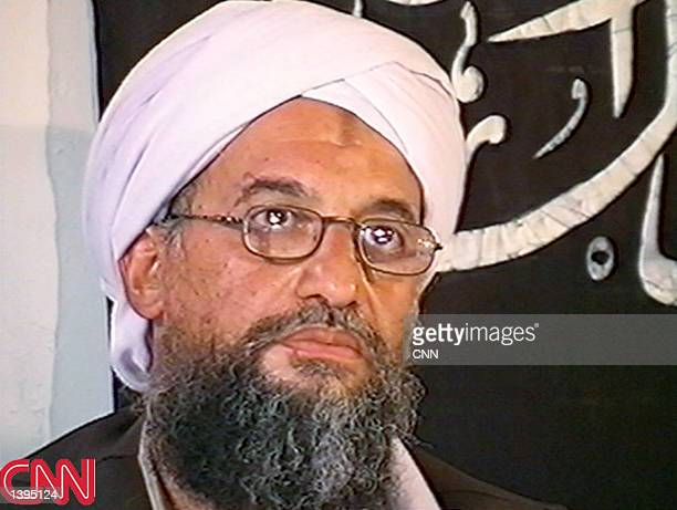 This image taken from a collection of videotapes obtained by CNN shows Ayman AlZawahiri second in command of the terrorist network al Qaeda at a...