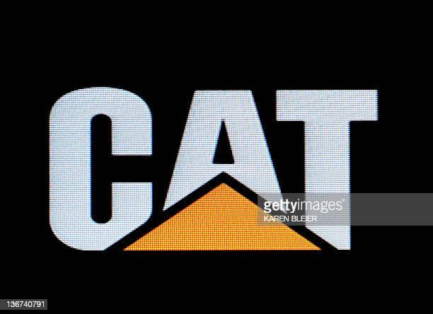 This image taken from a video screen shows the logo for Caterpillar Inc on January 11 2012 in Washington DC AFP PHOTO/Karen BLEIER