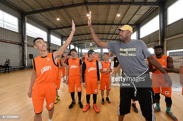 This image was made during a Gatorade Training Camp with NBA Legend Vin Baker as part of the 201617 NBA Global Games China on October 6 2016 at the...