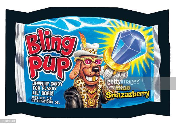 UNDATED This images shows the Bling Pup sticker parody of Ring Pop candy from the Wacky Packs collection issued by the Topps Company In May of 2004...