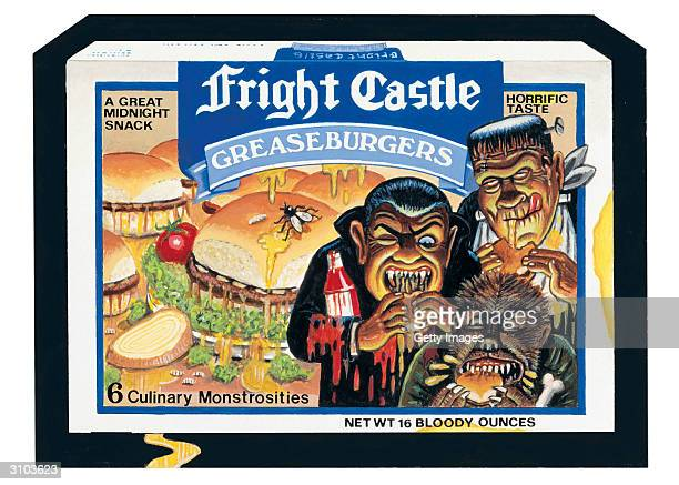 UNDATED This images shows the Fright Castle sticker parody of White Castle restaurants from the Wacky Packs collection issued by the Topps Company In...