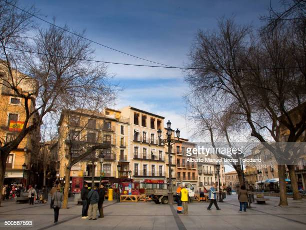 This images shows the Plaza de Zocodover or Zocodover square, it is probably the biggest and famous square in the city.