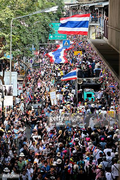 """This images was actually taken on 22 December 2013, the first major """"shutdown"""" by the anti-Thaksin group and a precursor to today's..."""