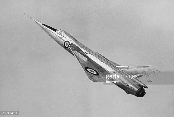 This in an in-flight view of Britain's Fairey Delta 2 jet, which established a new world speed record of 1,132 miles per hour . The plane, first to...
