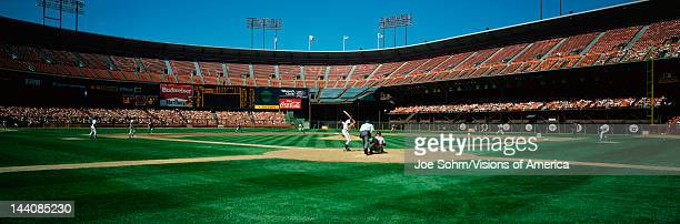 This is 3Com Stadium It was formerly known as Candlestick Park The San Francisco Giants are playing