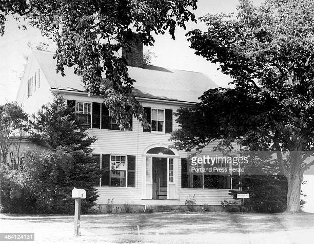 This is a 1958 file photo of the Roger Hunnewell house on Hunnewell Road in Scarborough The home was built by Hunnewell in 1731 on the foundation of...