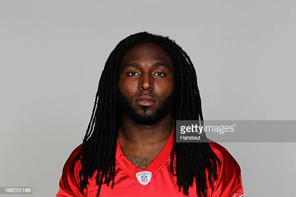 This is a 2012 photo of Dunta Robinson of the Atlanta Falcons NFL football team This image reflects the Atlanta Falcons active roster as of Wednesday...
