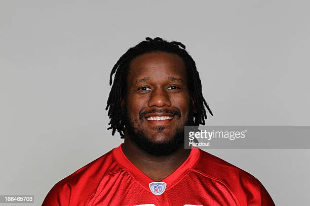 This is a 2012 photo of Jonathan Babineaux of the Atlanta Falcons NFL football team This image reflects the Atlanta Falcons active roster as of...