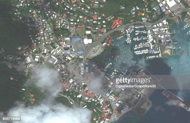 This is a 'before' DigitalGlobe satellite imagery of Road Town British Virgin Islands before being struck by Hurricane Irma