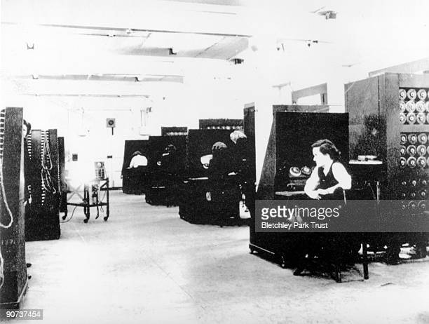 This is a Bombe unit room at Eastcote in Middlesex The Bombe machine was used extensively during WWII to crack top secret German military communiques...
