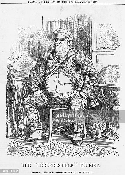 This is a cartoon of Germany's Prince Bismarck He is surrounded by maps of all different places Bismarck's Colonial Policy had caused concern with...