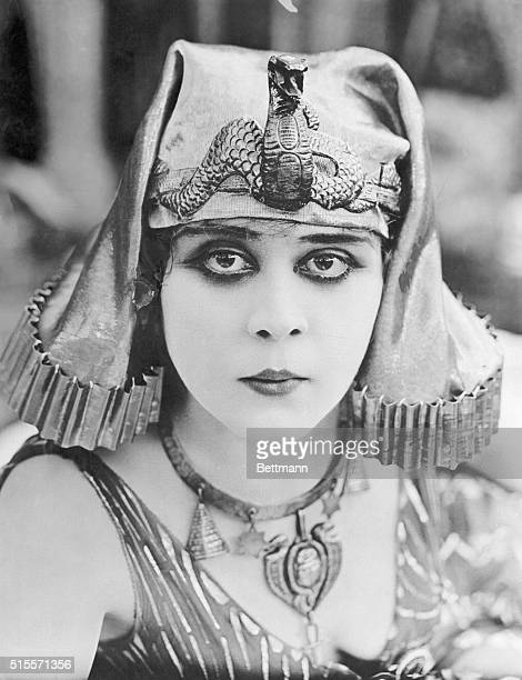This is a close up of Theda Bara as Cleopatra